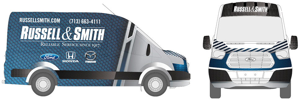 russell & smith-car-wrap