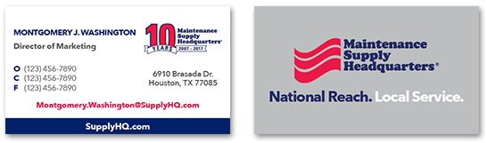 maintenance supply headquarters-business-cards